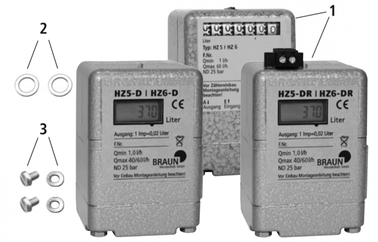 Oil Meter HZ 5 / HZ 6 and HZ 5 DR / HZ 6 DR Mounting Instructions