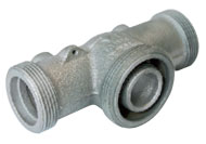 Connector for one-pipe gas pressure regulator