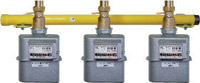 Installation example for 3 Single nozzle gas meter