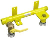 Rohr-Anschluss-Einheit RAE, vormontiert Mit Kugeleckhahn und Gaszählerverschraubung