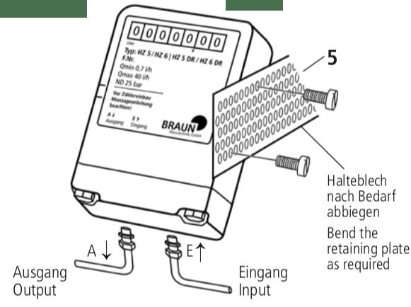 Ölzähler HZ 5 / HZ 6 und HZ 5 DR / HZ 6 DR Montageanleitung