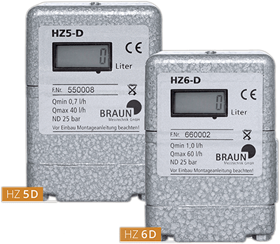 Oil meter HZ 5 D / HZ 6 D with LCD digital display