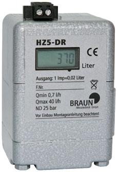Compteur de fuel HZ 5 DR de Braun Messtechnik