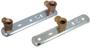 AP Connecting plates for single- and twin-pipe-gasmeters, pre-assembled with angle