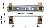 Dimensions du compteur de gaz à deux buses AP:
