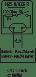 Anschluss and aktiven Eingang z.B.: Batteriezählwerk