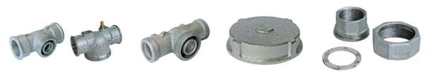 Connectors and accessories for single-piece gas pressure regulators