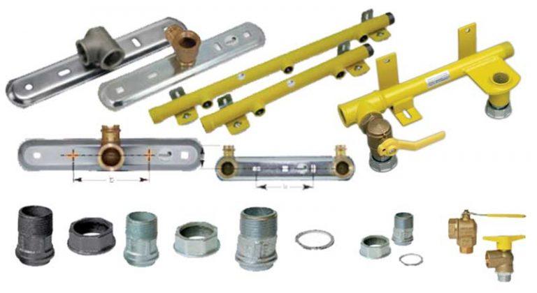 Gas | Gaszähler-Anschlussplatten