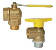 Gas ball valve (corner shape)