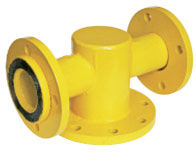 Connection T-piece for single-nozzle gas meters