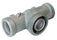 Anschlußstück für Einrohrgasdruckregler